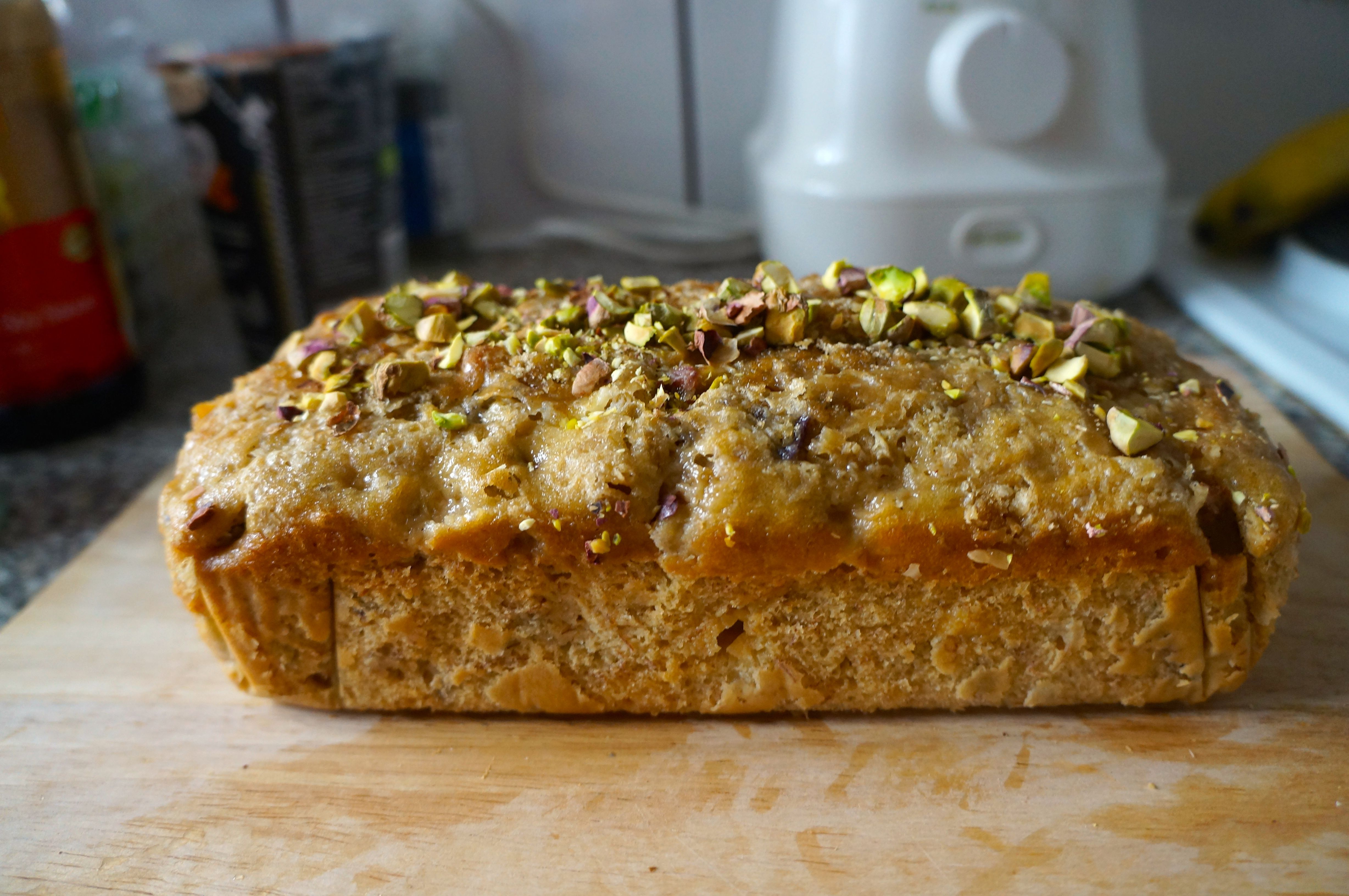 Recipes coffee buns topping the decadently moist loaf with pistachios was a good move i took a gamble with bananas in this recipe and the pistachios that finished it in the forumfinder Choice Image